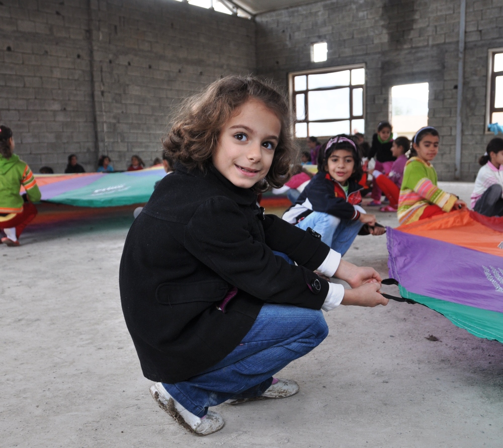 Kurdish Girl Playing with the Parachute.jpg