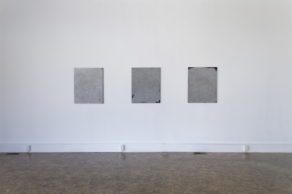 Install view  All works by Sam Lipp  Untitled (2014)  Acrylic on linen  31h x 25w in      Untitled (2014)   Acrylic on linen  31h x 25w in     Untitled (2014)  Acrylic on linen  31h x 25w in