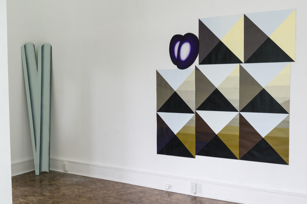 Install shots of works by Dom Smith