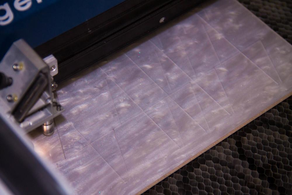 Each swirly sheet yields around 100 inlays.