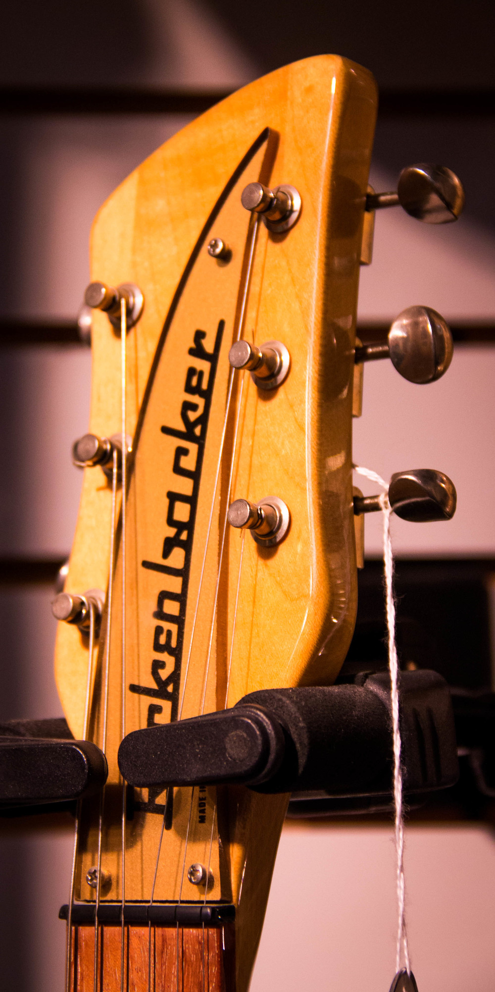 The gorgeous headstock of the Jackson Browne prototype model.