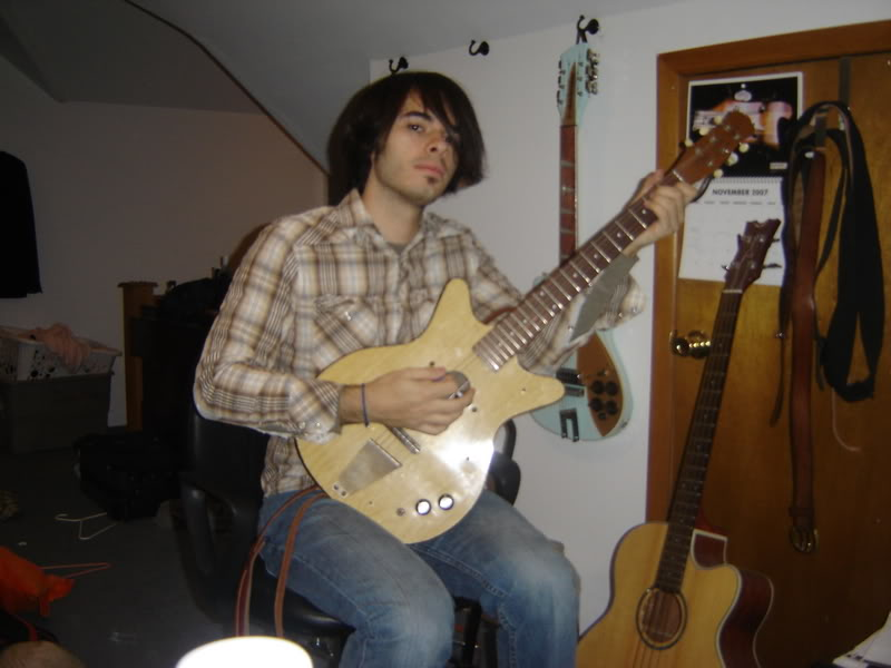 Me and my Danelectro, the week I bought it. November 2007
