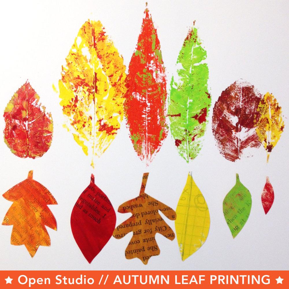 Autumn Leaf Printing -