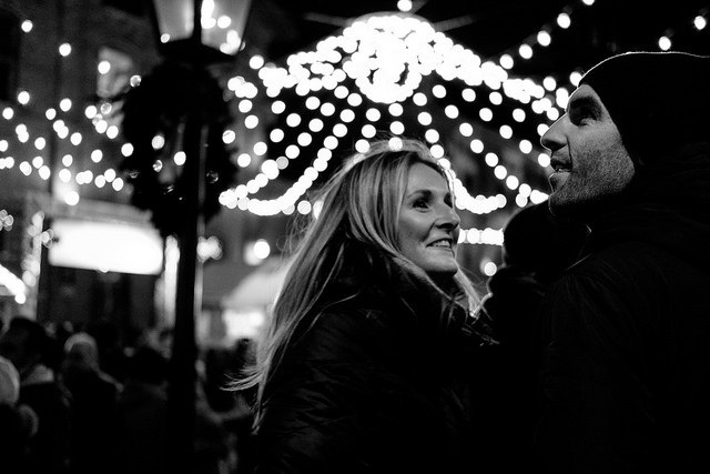 A candid shot at the Toronto Christmas Market F2.0/ISO 3200