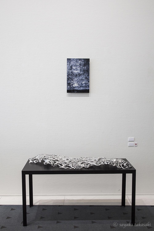 LandscapeⅡ#4 手前は本郷芳哉さんの彫刻作品