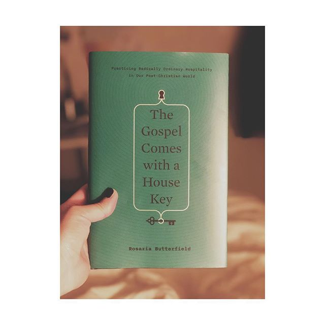 """""""This book isn't for those who want to live the comfortable Christian life. Rosaria proves there is no such thing. She has a unique way of blending personal story and theological teaching that challenges the reader to engage in areas of both agreement and disagreement: I was sharpened well in both cases.""""-Aimee Byrd. """"Radically ordinary hospitality - those who live out radically ordinary hospitality see their homes as not theirs at all but as God's gift to use for the furtherance of his kingdom."""" I'm looking forward to how hospitality can allow strangers to become neighbors, and by God's power, those neighbors become part of God's family. #jesus #hospitality #prayer #challenge #uncomfortable #stretched #sacrifice #focusongrowth #gottaruntheracewell #host"""