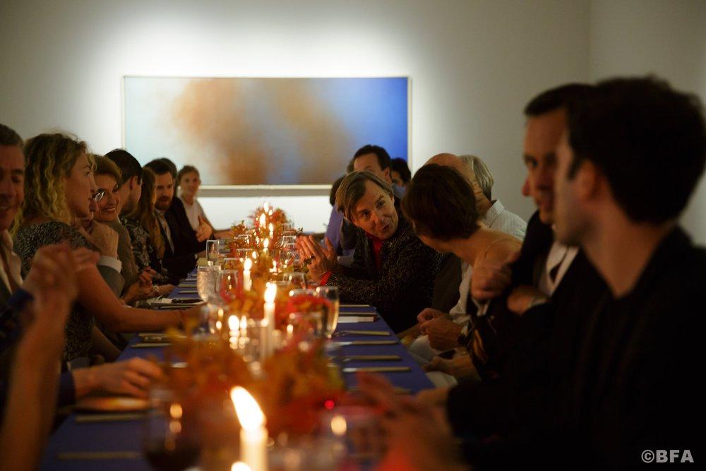 Johan Creten Dinner at Galerie Perrotin