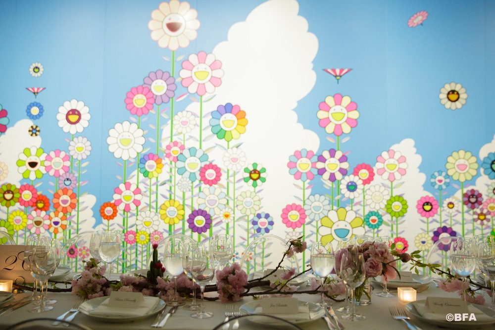 Takashi Murakami Dinner at Galerie Perrotin