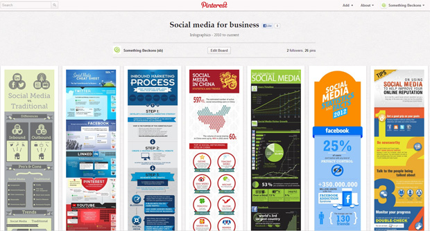 something-beckons-social-media-for-business-pinterest-board