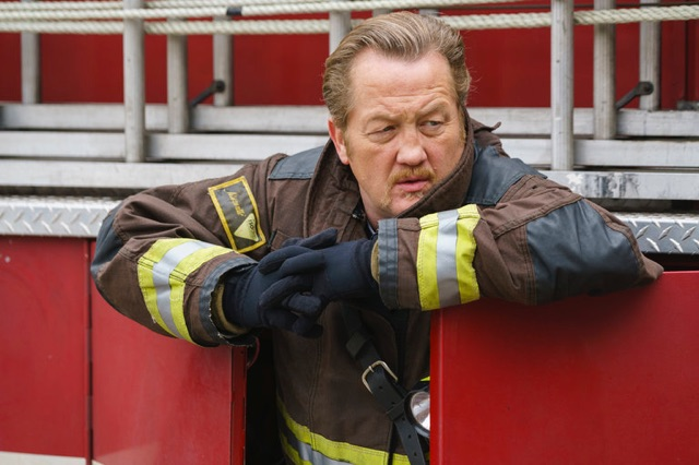 Grand Marshal Christian Stolte from NBC's Chicago Fire