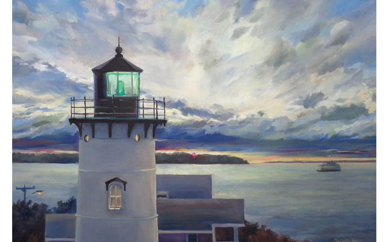"East Chop Light, Martha's Vineyard, Oil on Canvas, 30"" x 40"""