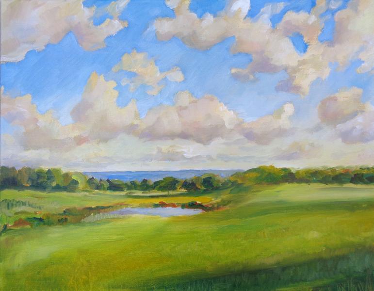 "Keith Farm, Oil on Canvas, 11"" x 14"" SOLD"