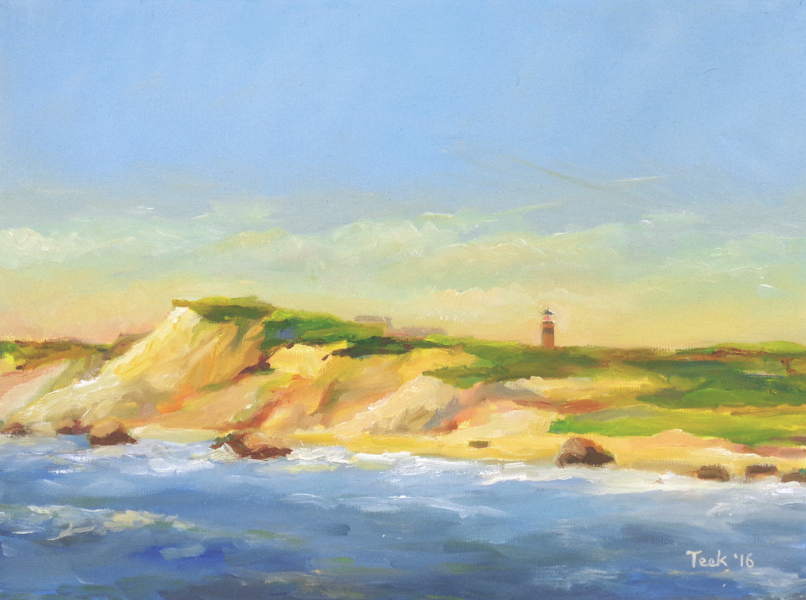 """Aquinnah Afternoon, Oil on Canvas, 9"""" x 12"""" SOLD"""