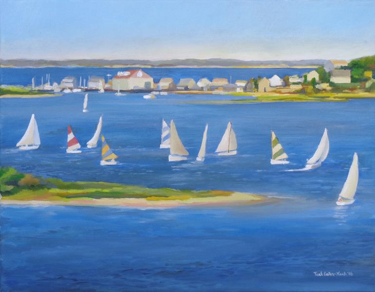"""Menemsha Overlook, Oil on Canvas, 14"""" x 18"""""""