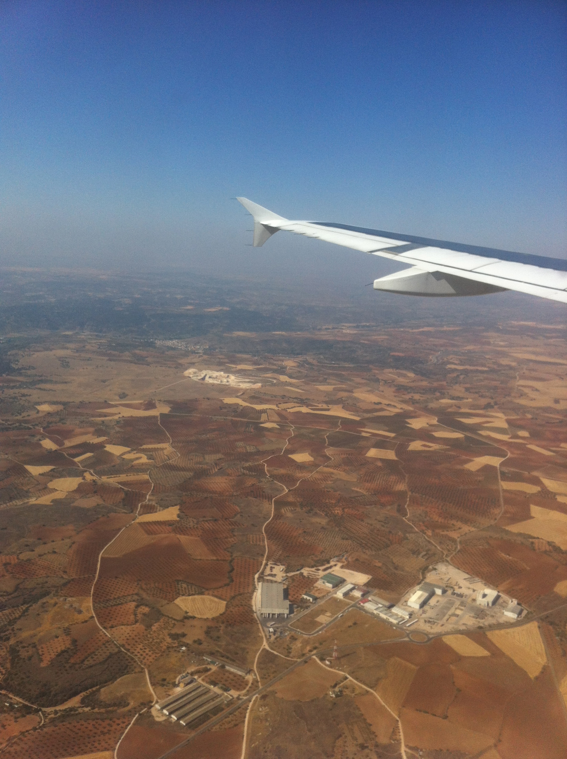 On approach to Madrid's Barajas International Airport.