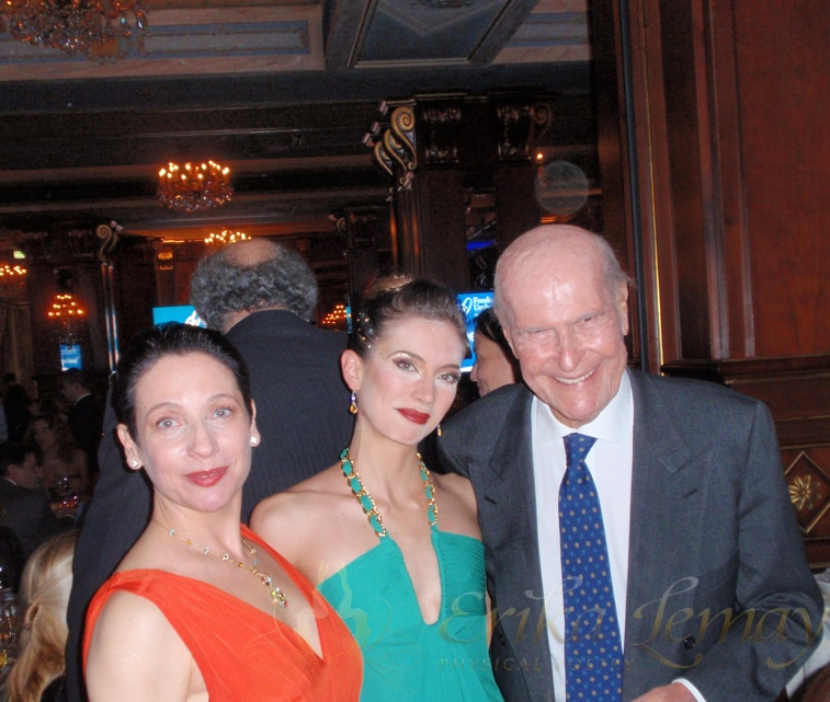 Erika with Elisabetta Armiato and Umberto Veronesi