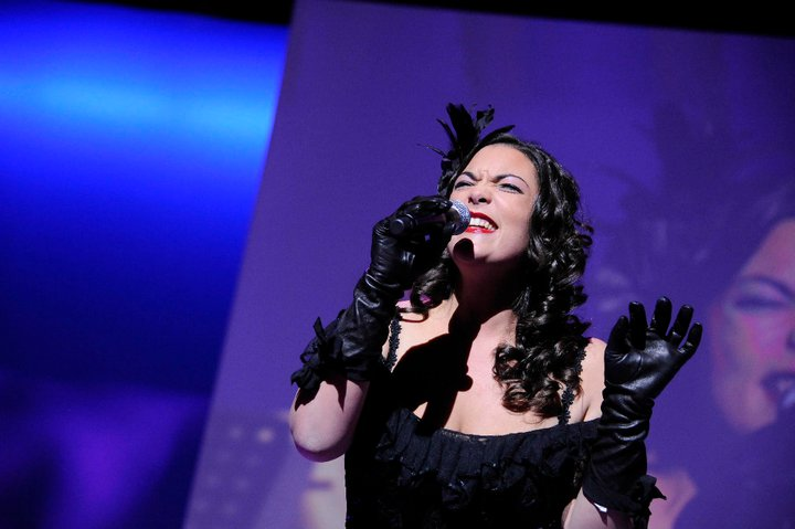 Caro Emerald performing during the event