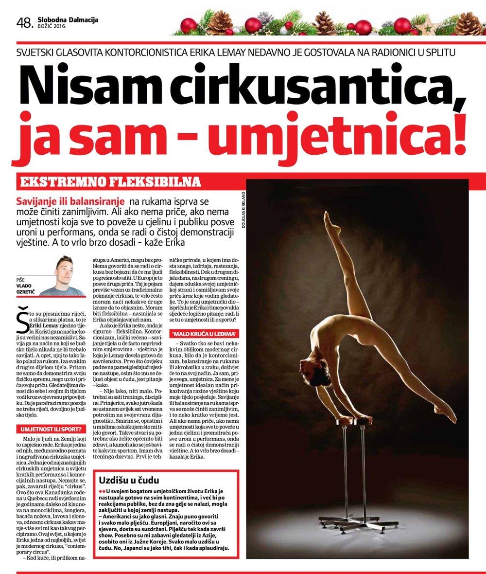 Slobodna Dalmacija article