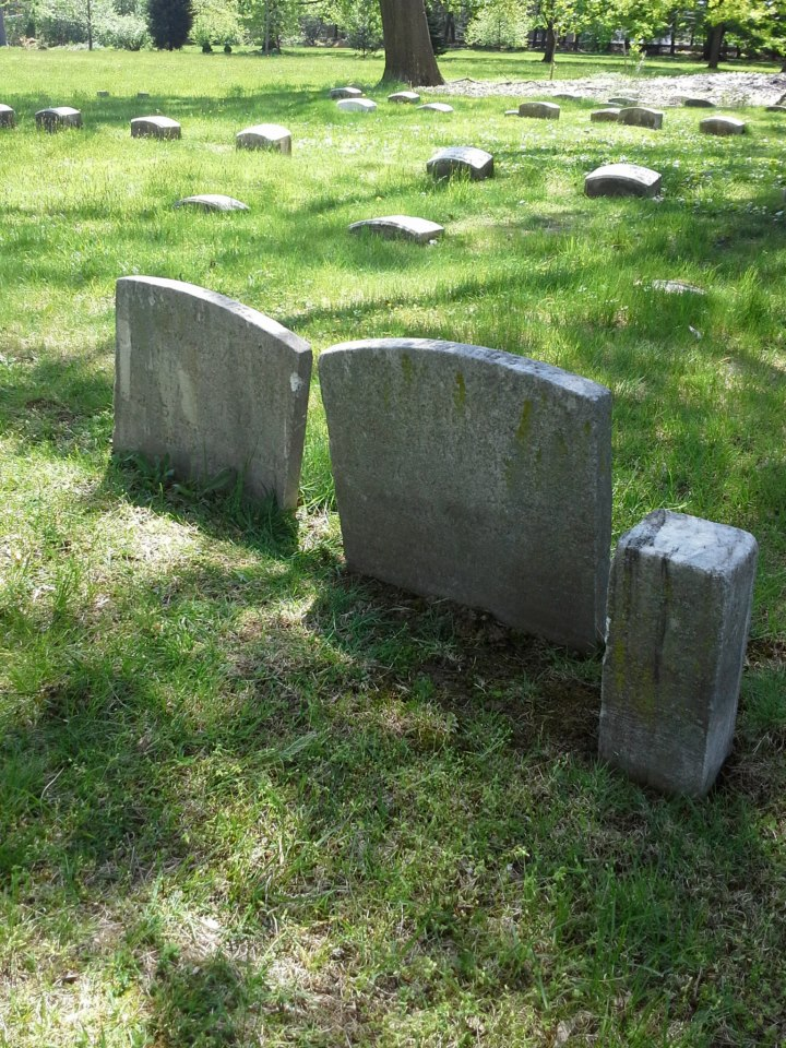 Gravestones in the Spring