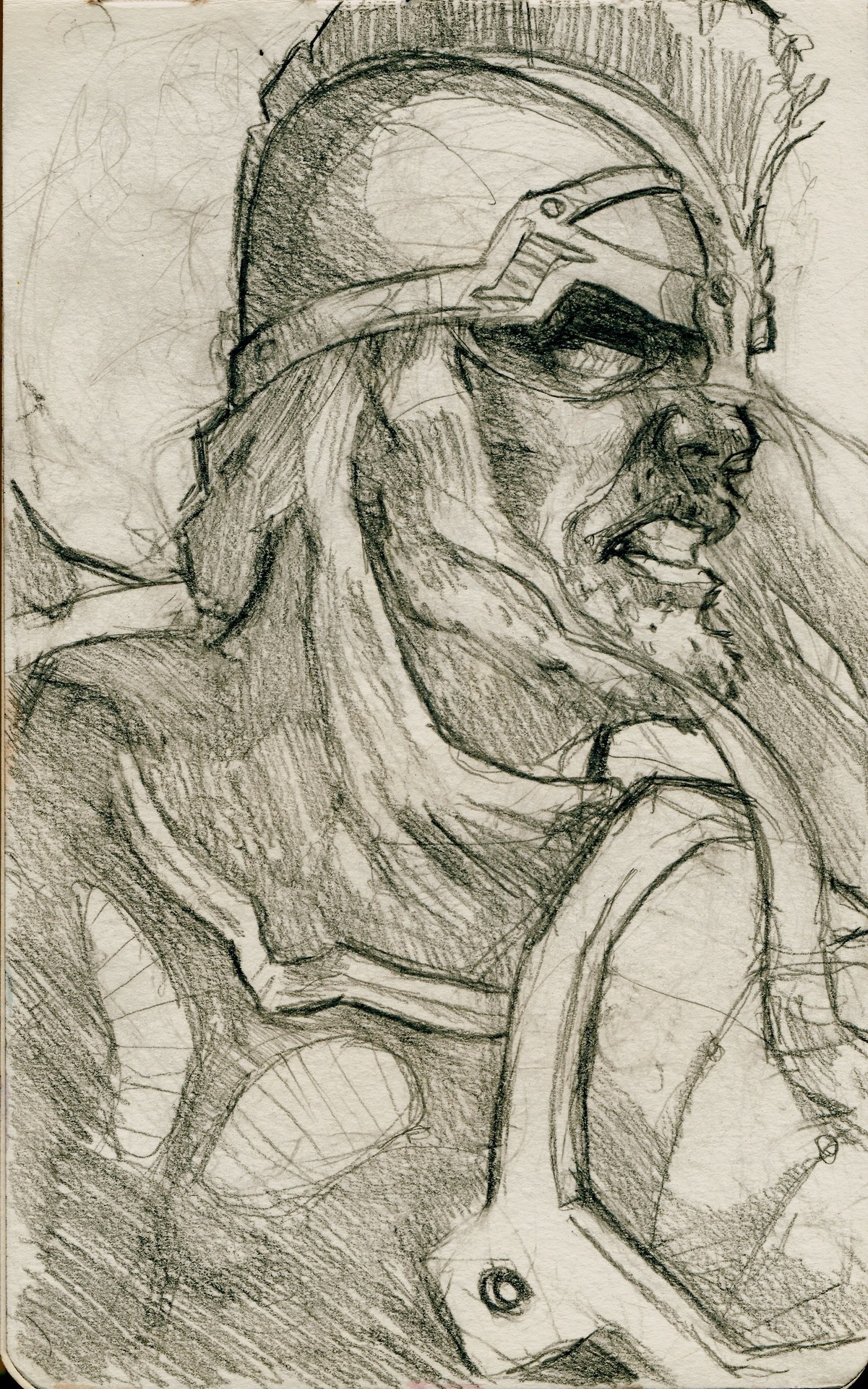 At the moment I'm working on some Tolkien fan art, so until I have that done, I'd like to share with you an old sketch I had lying about. I think it's supposed to be Eomer.