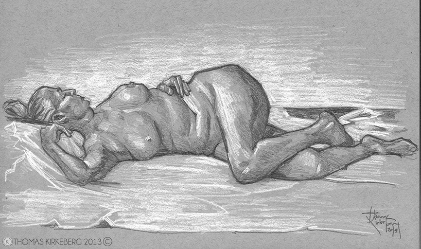 In class drawing in Figure Drawing class.