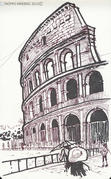 Drawn from a picture from my trip to Rome.