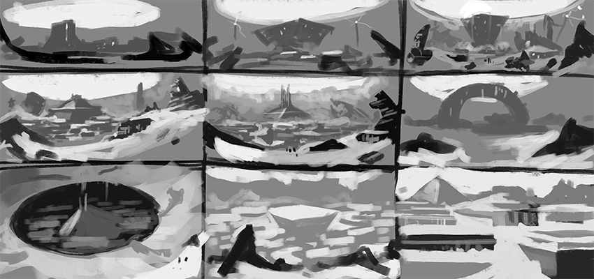 Thumbnails for Zodiac Fringe concept art