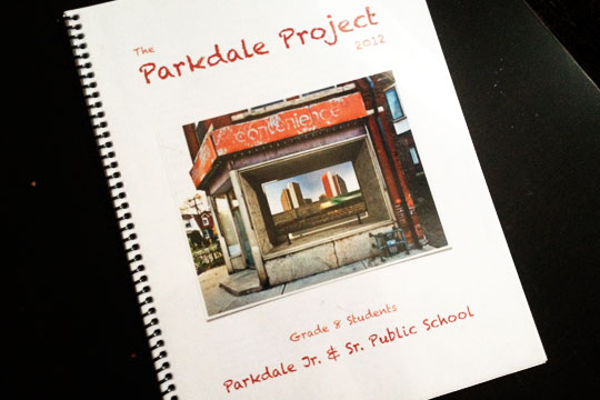The first Parkdale PS Student Anthology