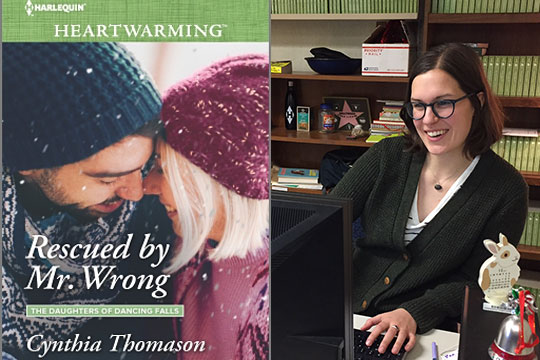 A recent title from Harlequin's Heartwarming Series; Claire Caldwell at the publisher's Toronto Offices.