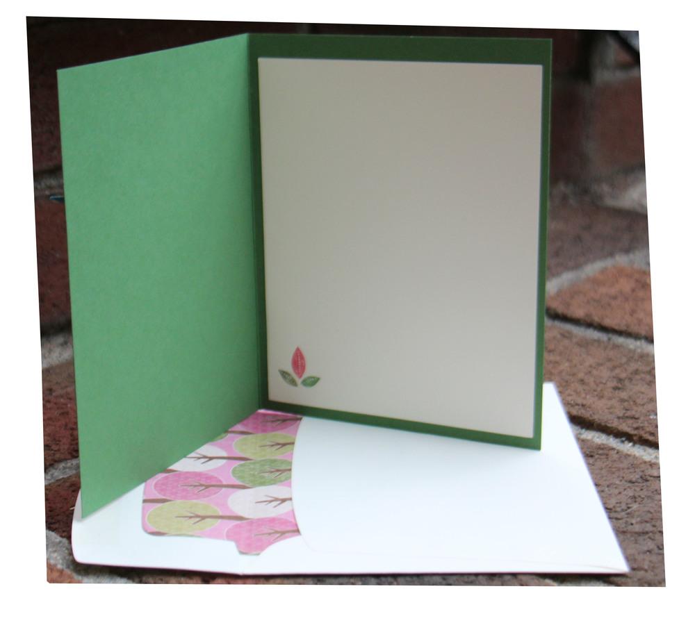 envelope liner and inside of card