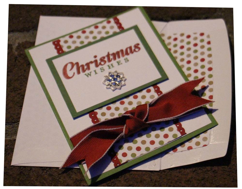 Christmas Wishes and Lined Envelope