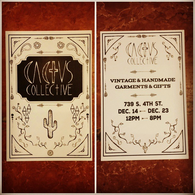 Cactus Collective starts today!  Get all your vintage and homemade holiday gifts! 739 S. 4TH ST. #cactuscollective #philly #societyhill #fabricrow #queenvillage #vintagephilly #phillyfashion