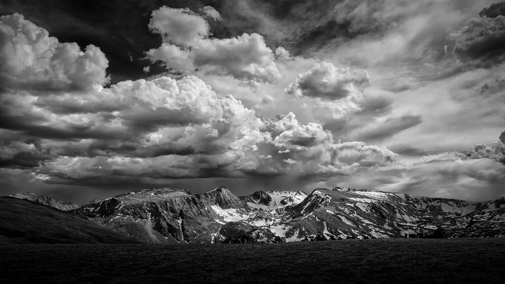 Rocky Mountain National Park in Black & White