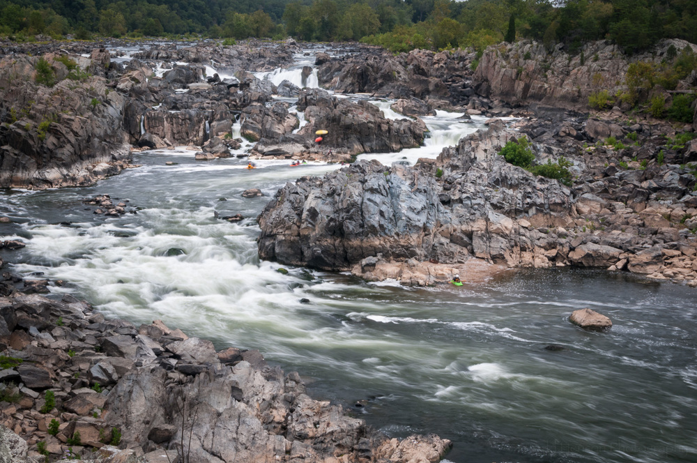 Kayakers in Potomac River at Great Falls Park