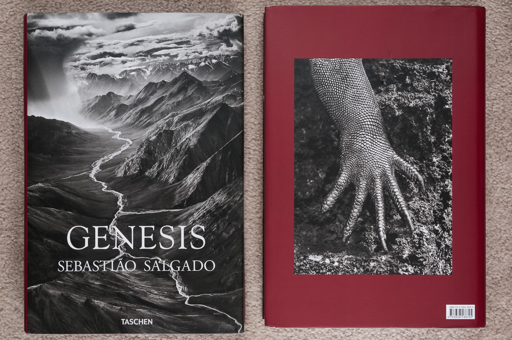 Front and back cover of Genesis by Sebastiao Salgado