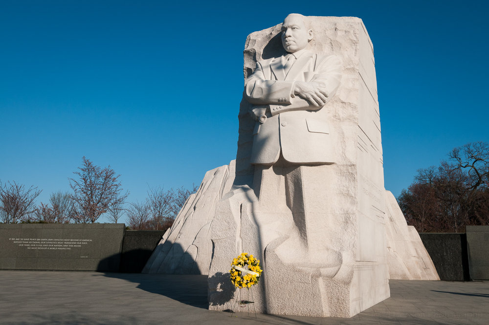 Martin Luther King, Jr. Memorial with yellow wreath