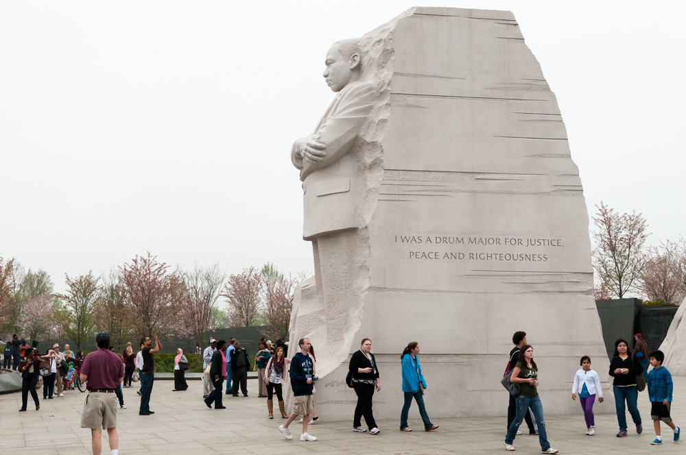 Martin Luther King, Jr. Memorial with drum major quote