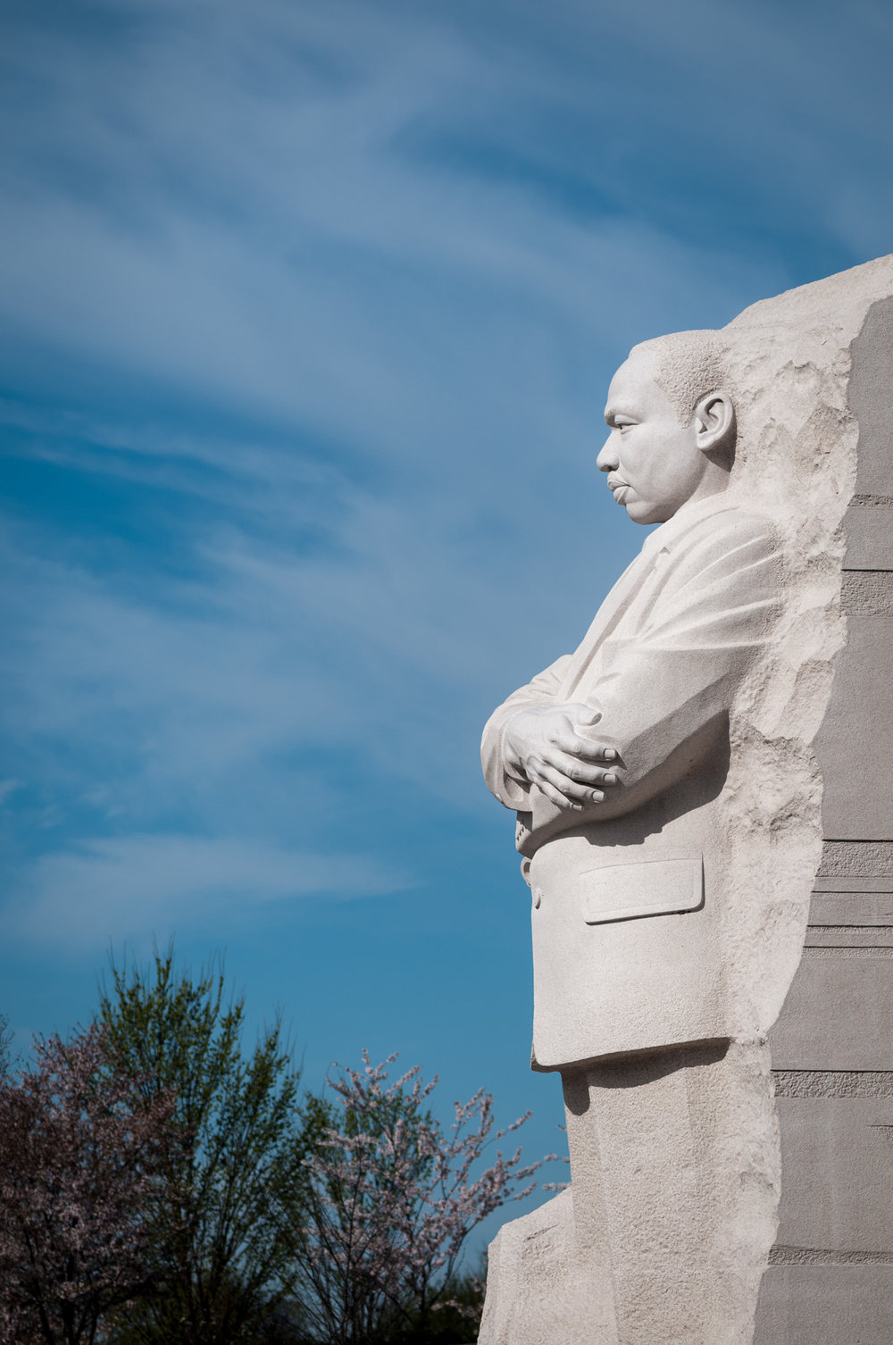 Profile of sculpture at Martin Luther King, Jr. Memorial
