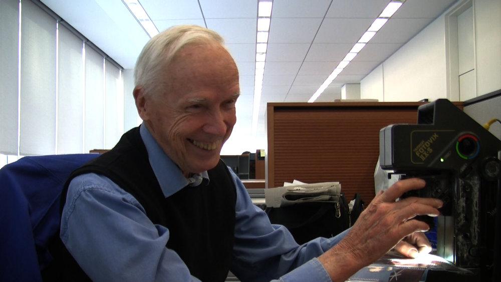Bill Cunningham at his desk at The New York Times, in BILL CUNNINGHAM NEW YORK. A film by Richard Press. A Zeitgeist Films release. Photo credit: First Thought Films / Zeitgeist Films
