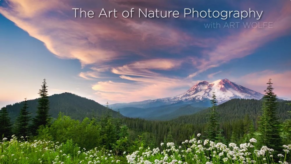 The Art of Nature Photography with Art Wolfe. Image credit: CreativeLive