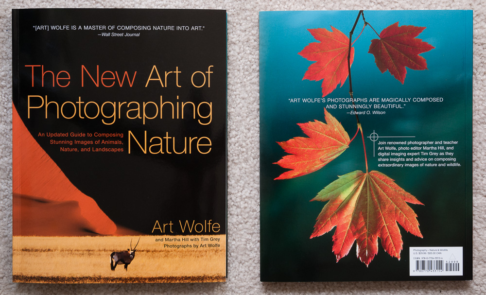 Front and back cover of The New Art of Photographing Nature by Art Wolfe