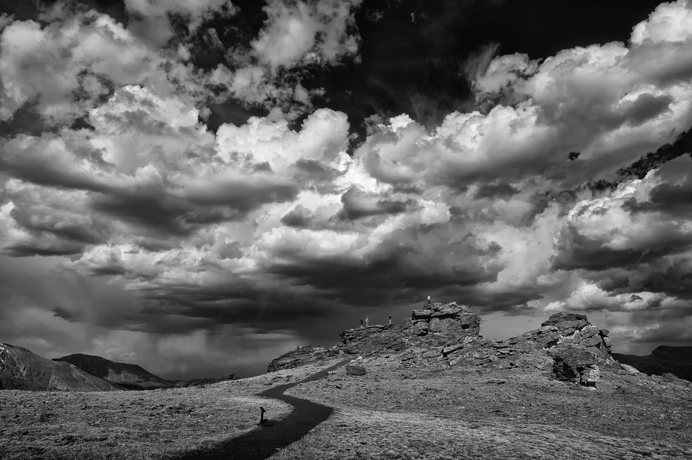 Facing the Storm, initial black and white conversion using Silver Efex Pro