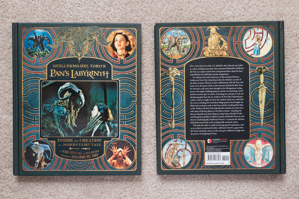 Front and back cover of  Guillermo del Toro's Pan's Labyrinth
