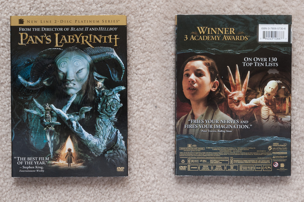 Front and back of  Pan's Labyrinth  DVD