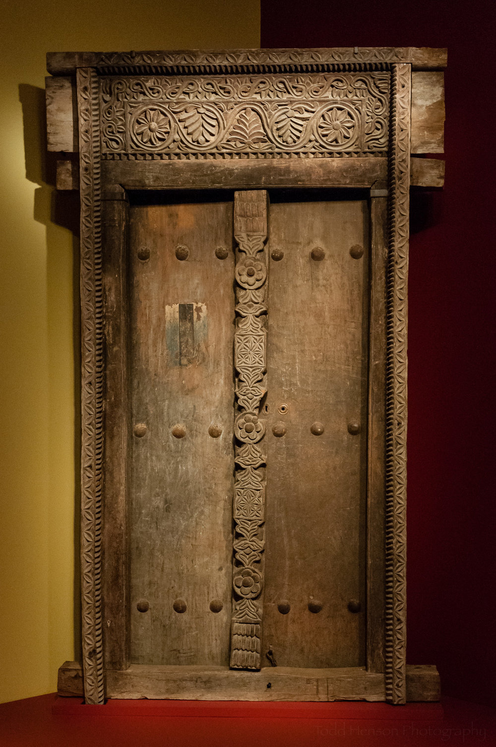 Swahili door and frame from Tanzania