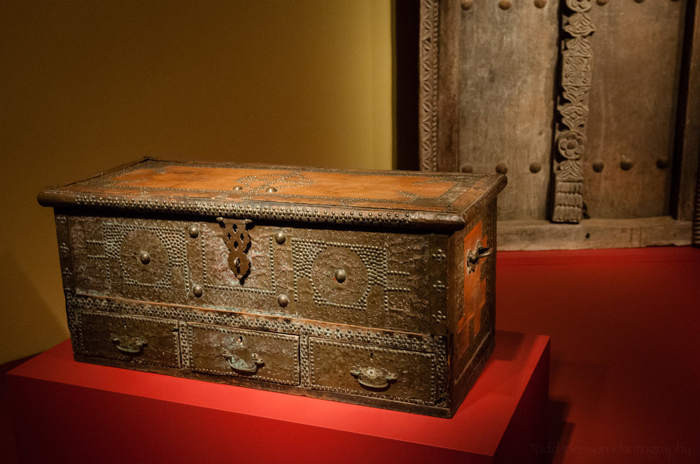 Ornate Swaili chest from Tanzania
