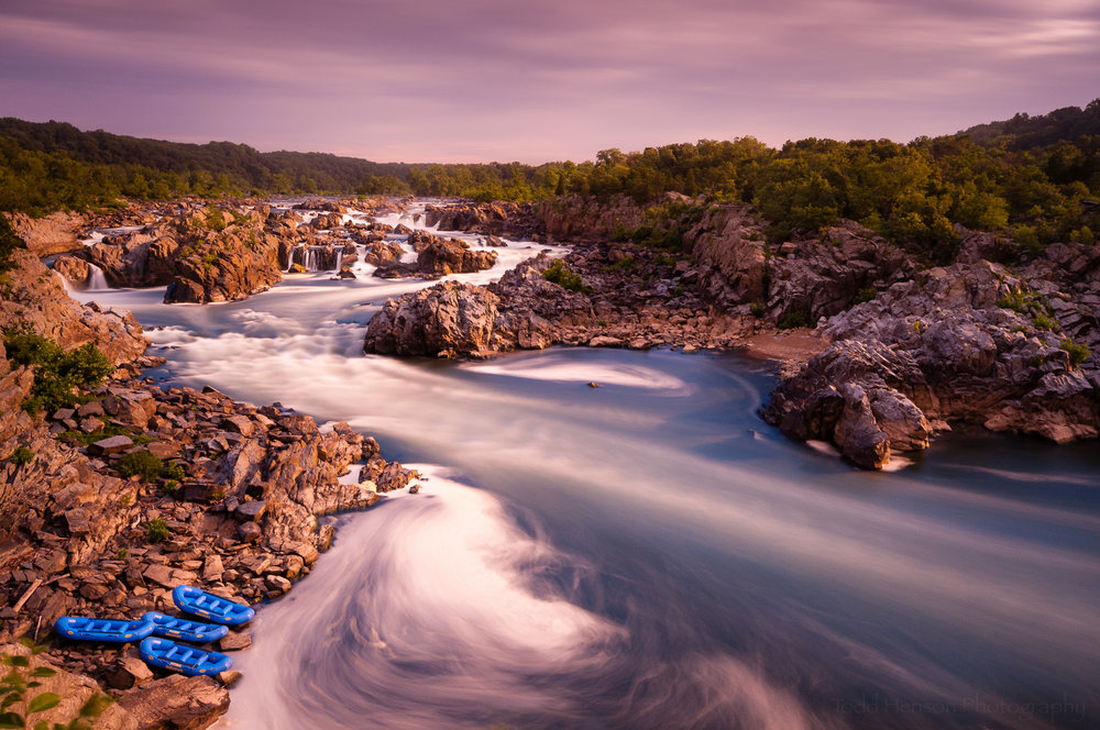 Prelude to Rafting at Great Falls Park in Virginia