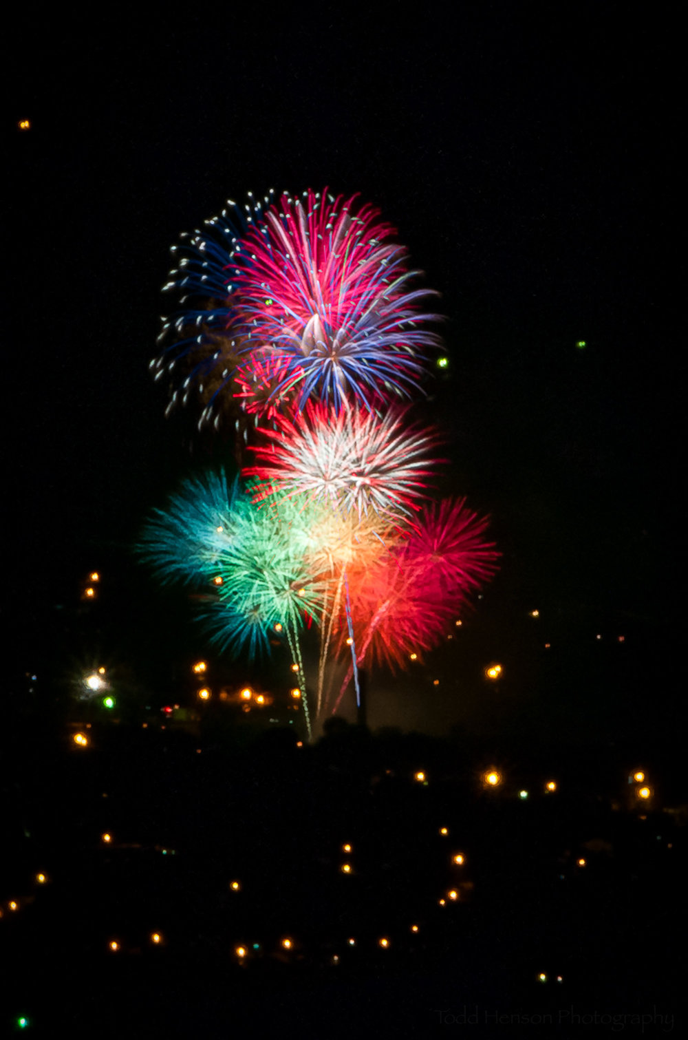 Second grouping of multiple fireworks images.