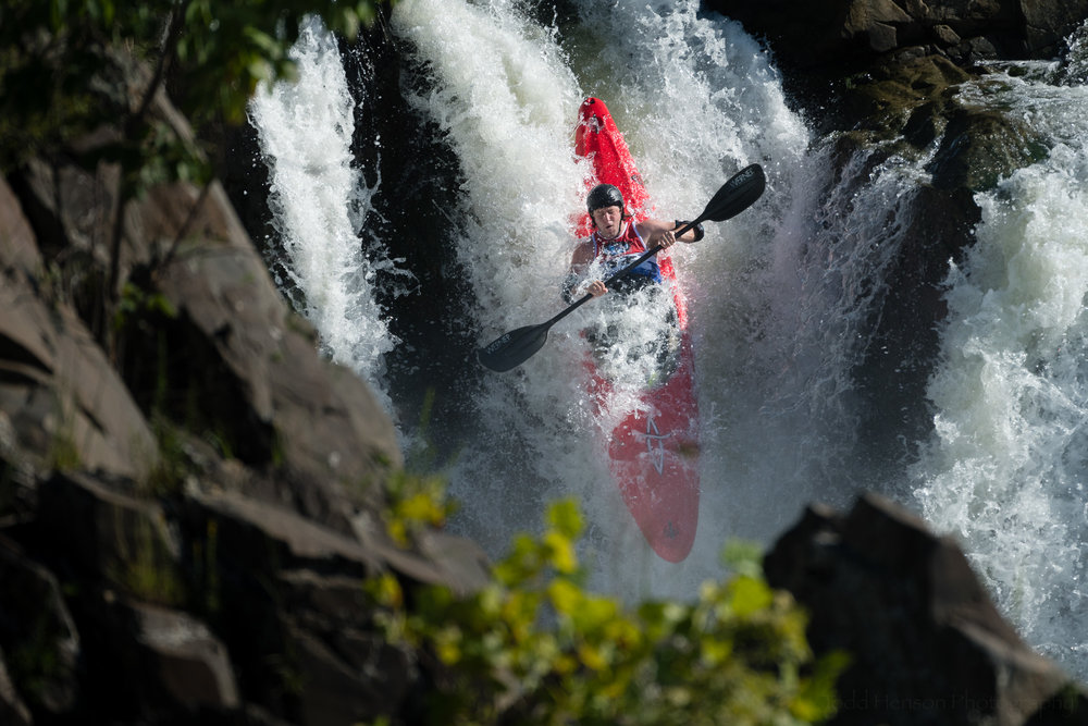 Jules Krinsky Kayaking The Fingers at Great Falls
