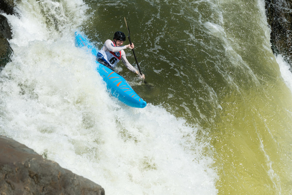 Ian Wingert Kayaking The Spout at Great Falls